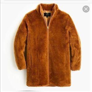 J. Crew teddy zip up coat